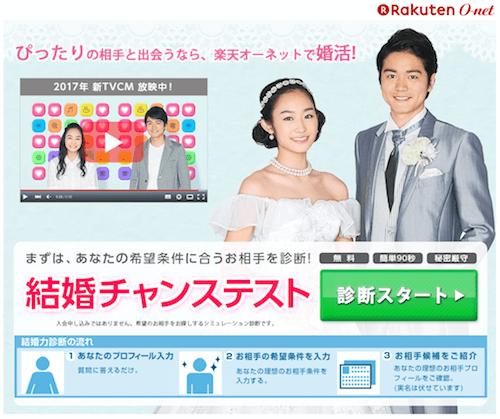 楽天オーネット「オンライン結婚相談所」の口コミ評判・評価