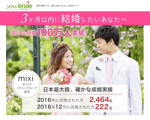 youbride(ユーブライド)「オンライン結婚相談所」の口コミ評判・評価